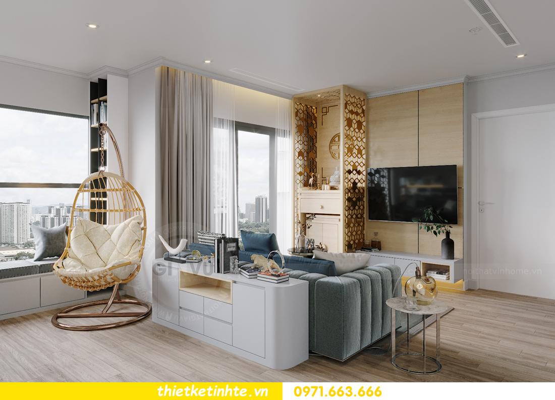 thiết kế nội thất căn hộ Vinhomes West Point W1 CH05 chị Hoa 5