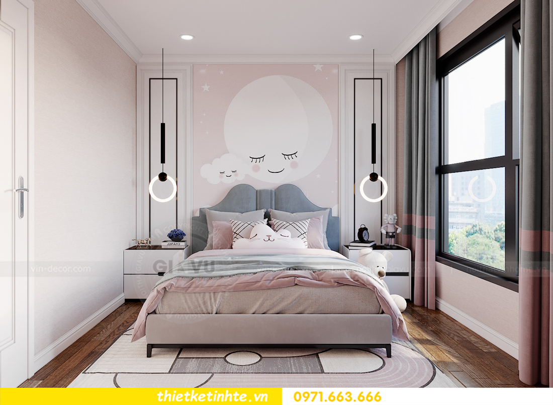 thiết kế nội thất chung cư Smart City tòa S202 căn hộ 08 14