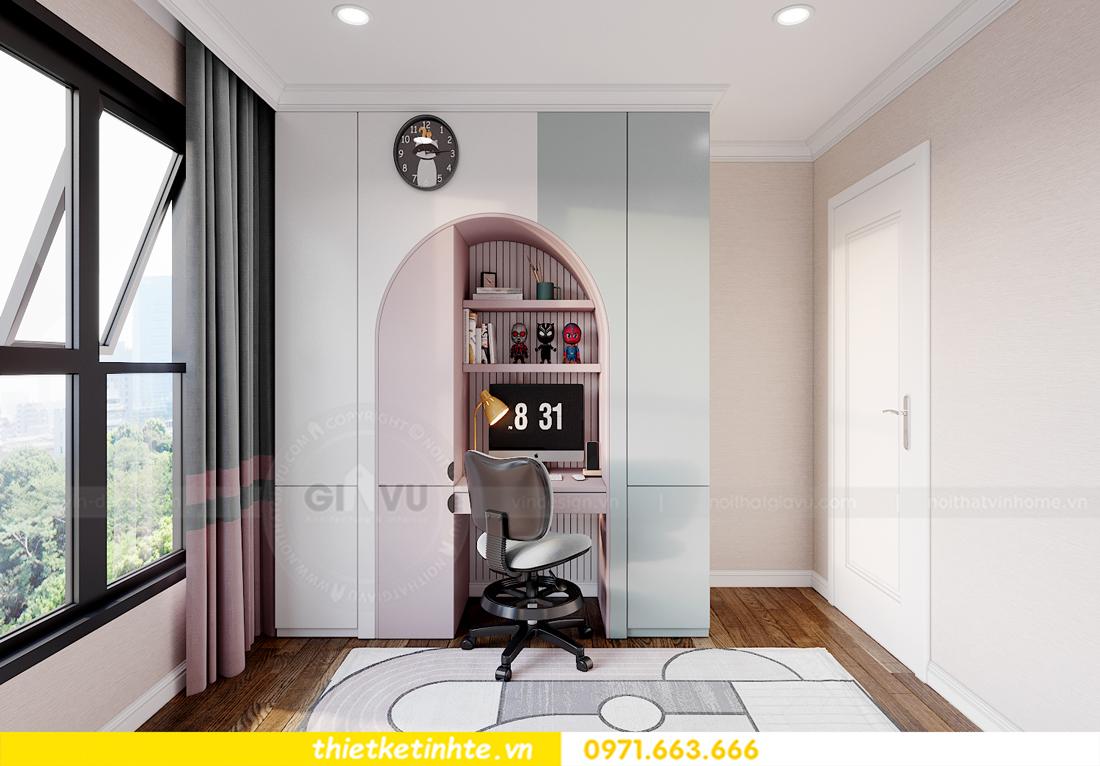 thiết kế nội thất chung cư Smart City tòa S202 căn hộ 08 15