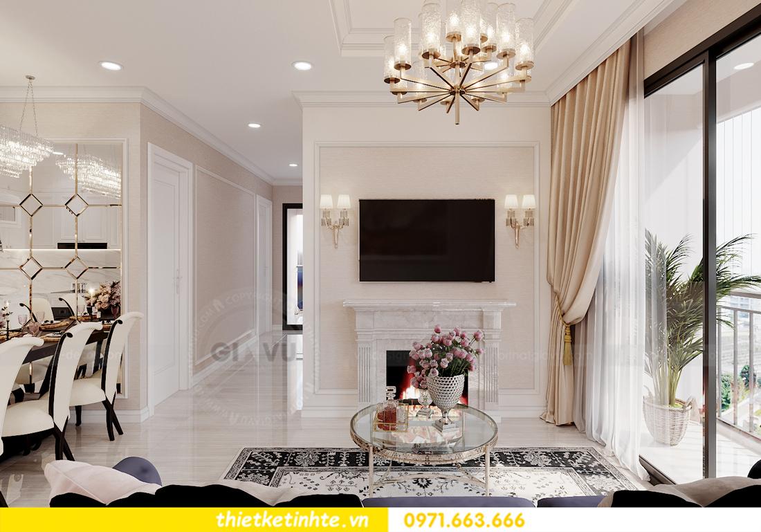 thiết kế nội thất chung cư Smart City tòa S202 căn hộ 08 3