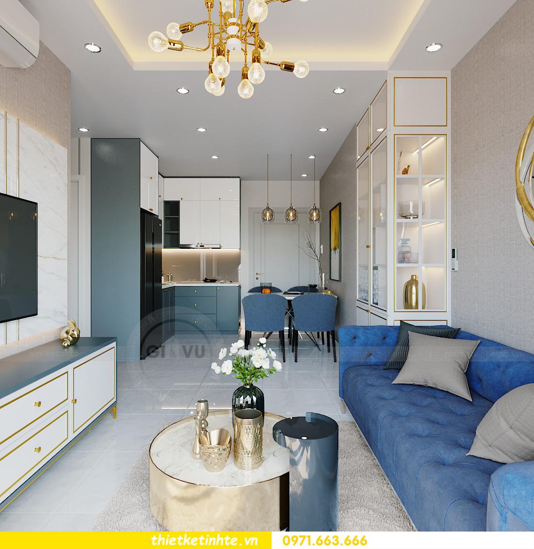 thiết kế nội thất Smart City tòa S201 căn hộ 2218 chị Quỳnh 2