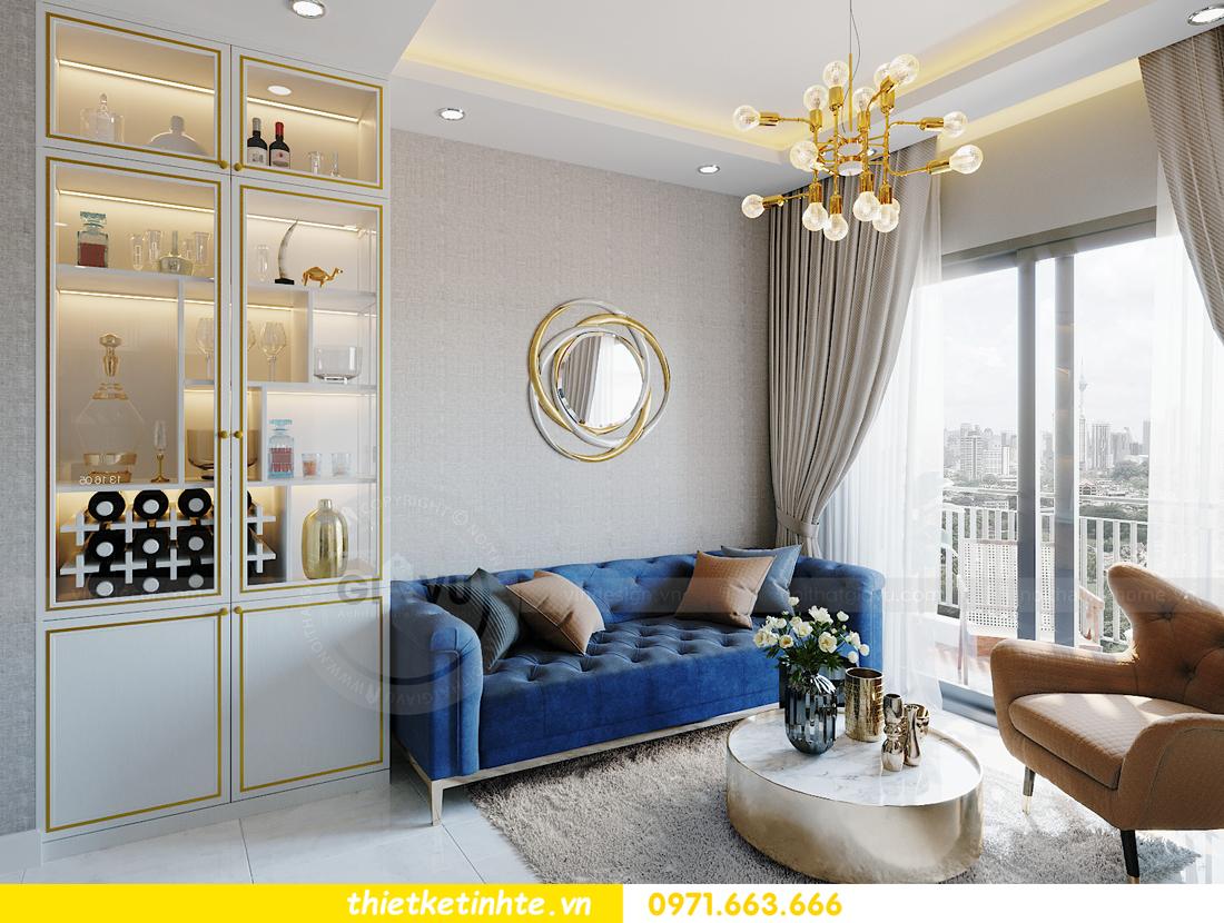 thiết kế nội thất Smart City tòa S201 căn hộ 2218 chị Quỳnh 3