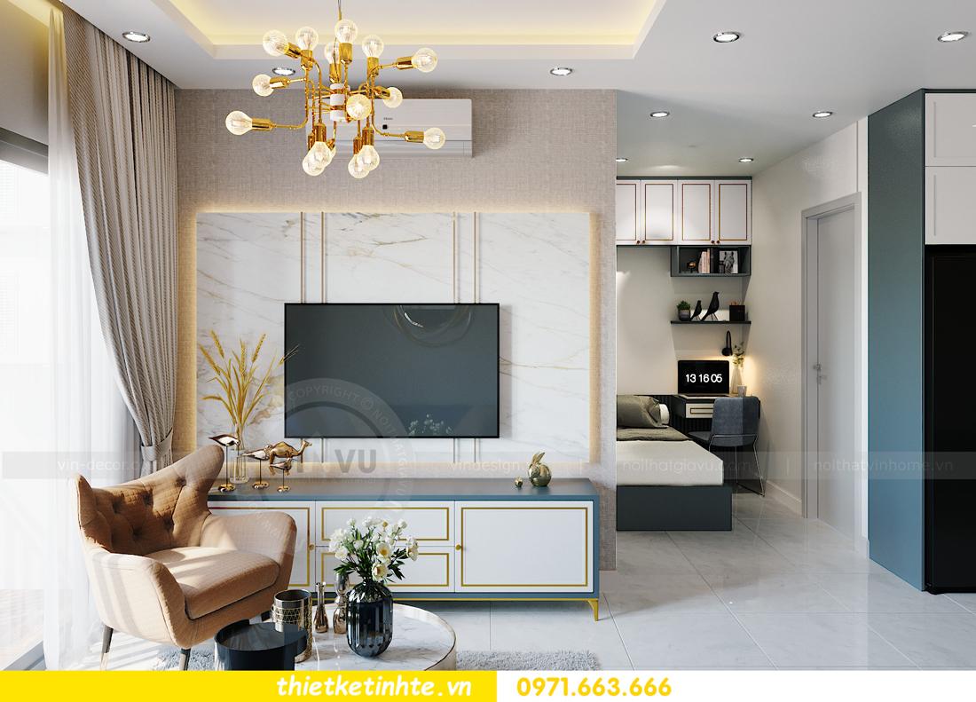 thiết kế nội thất Smart City tòa S201 căn hộ 2218 chị Quỳnh 4