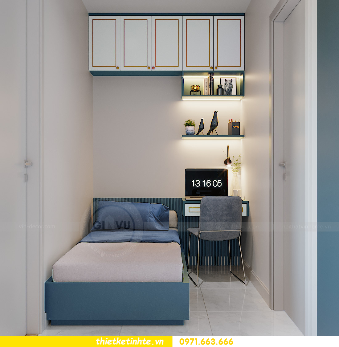 thiết kế nội thất Smart City tòa S201 căn hộ 2218 chị Quỳnh 5