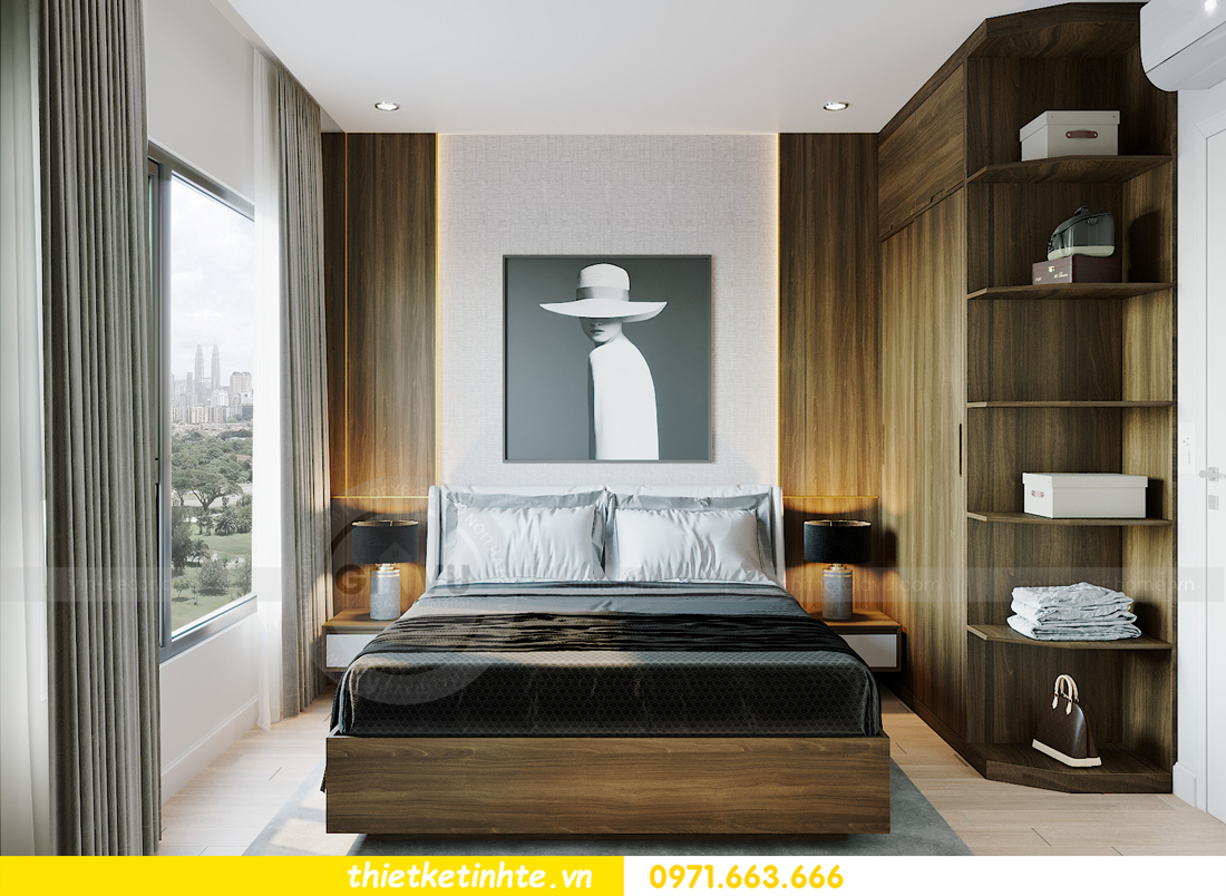 thiết kế nội thất Smart City tòa S201 căn hộ 2218 chị Quỳnh 7