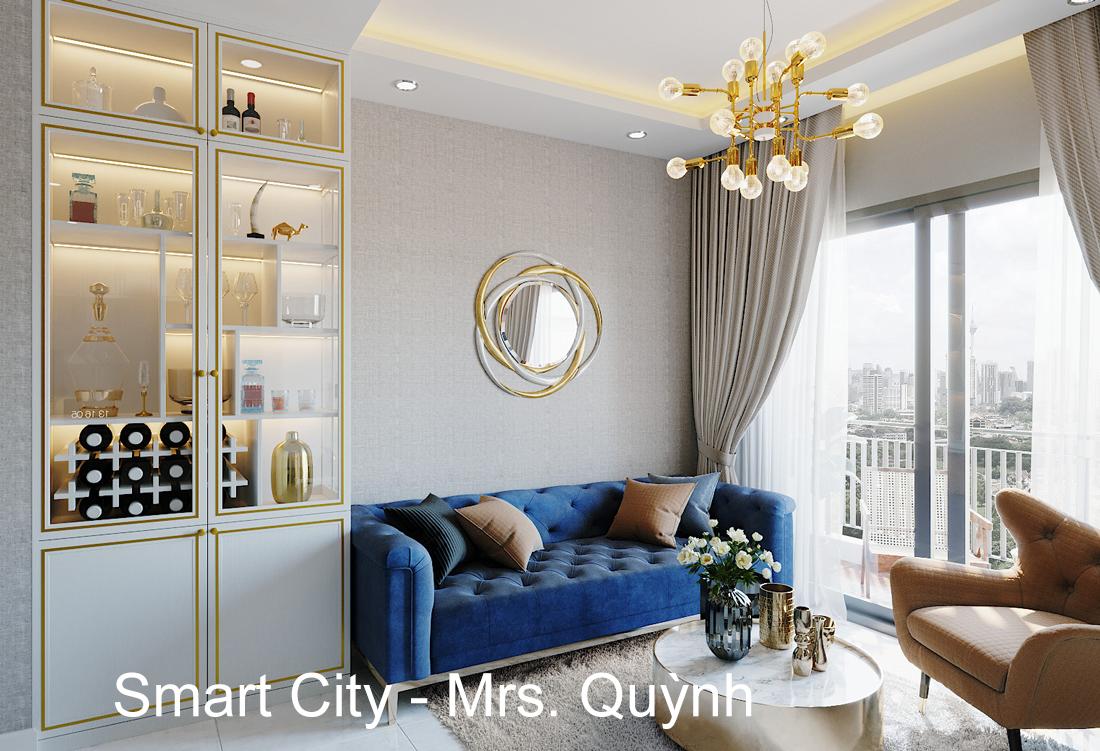 Thiết Kế Nội Thất Smart City Tòa S201 Căn Hộ 2218 – Chị Quỳnh