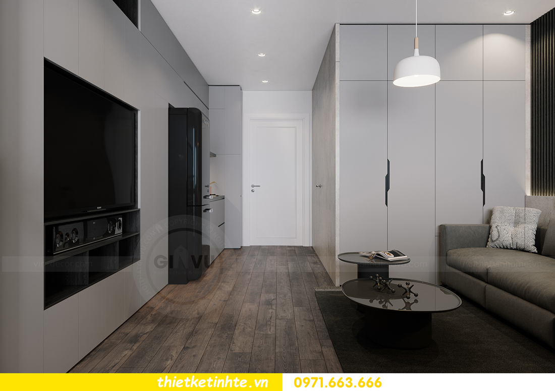 mẫu thiết kế nội thất căn hộ Studio tòa S101 căn 03 1