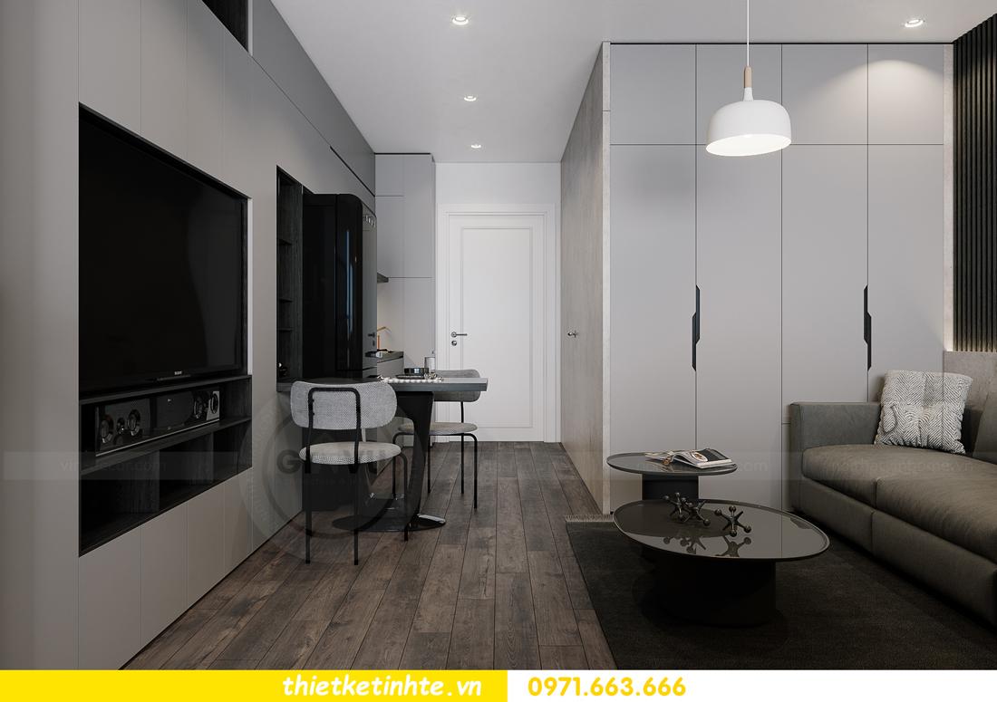mẫu thiết kế nội thất căn hộ Studio tòa S101 căn 03 2