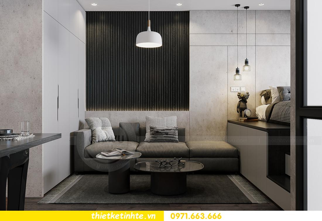 mẫu thiết kế nội thất căn hộ Studio tòa S101 căn 03 4