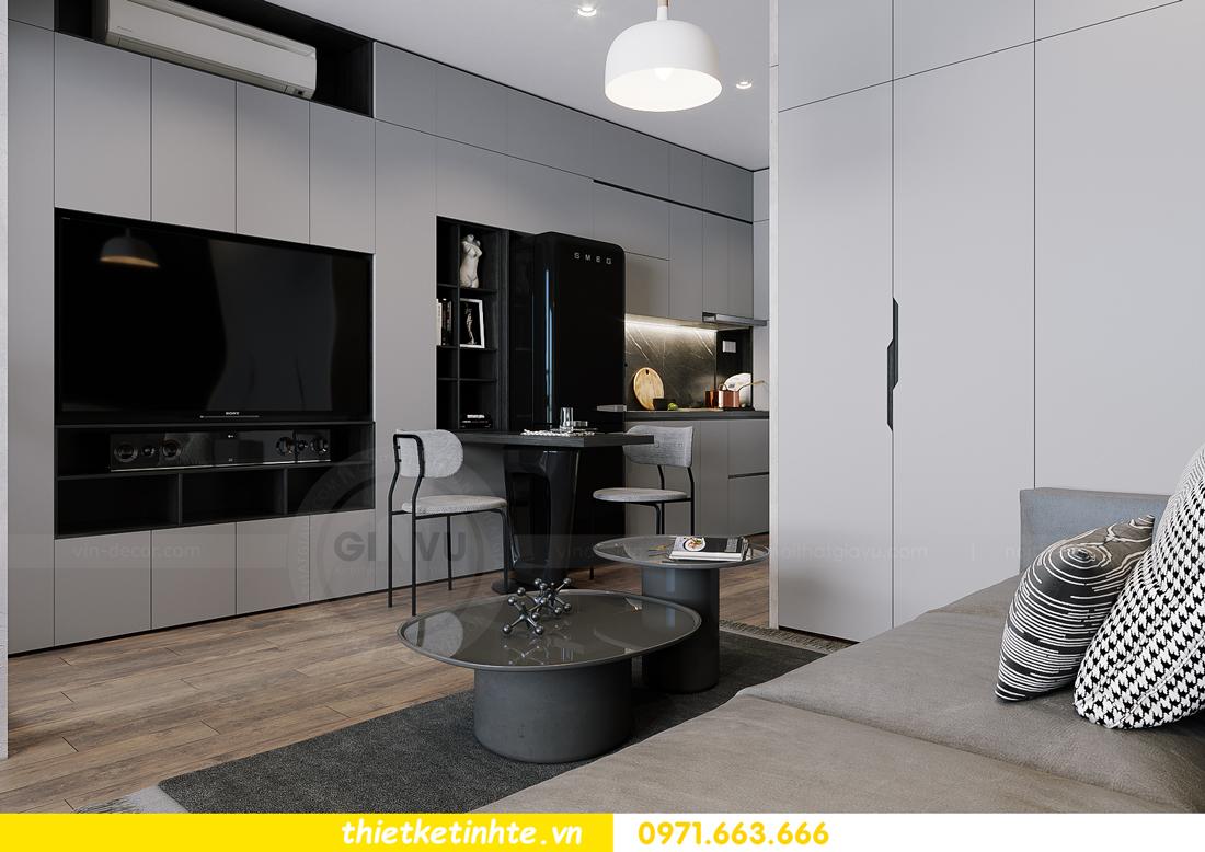 mẫu thiết kế nội thất căn hộ Studio tòa S101 căn 03 5