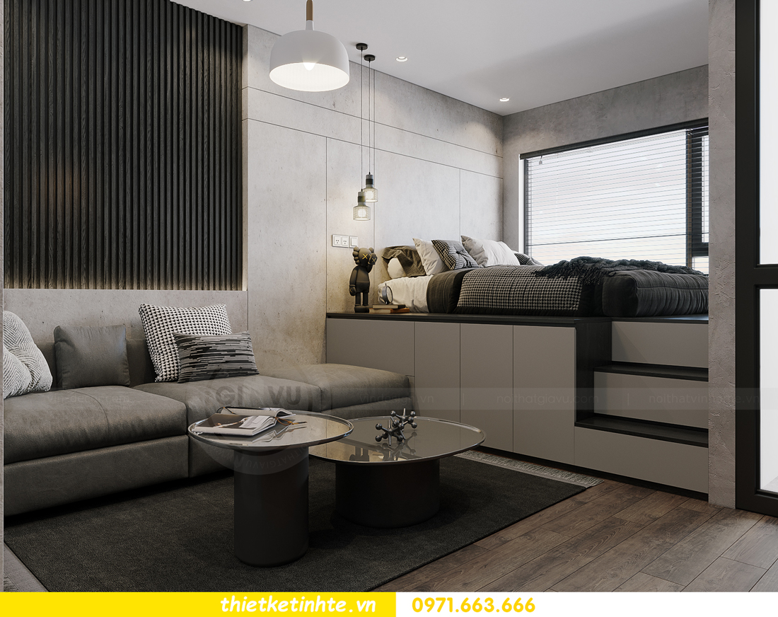 mẫu thiết kế nội thất căn hộ Studio tòa S101 căn 03 6