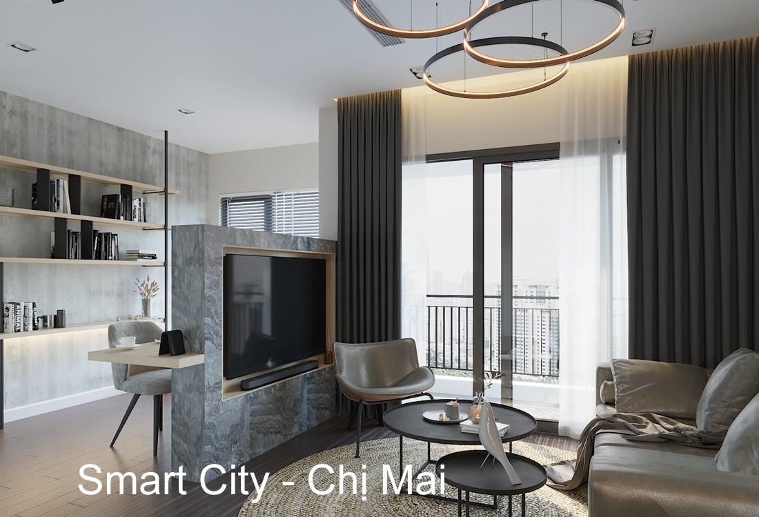 Thiết kế căn hộ Vinhomes Smart City tòa S101 căn 11 chị Mai