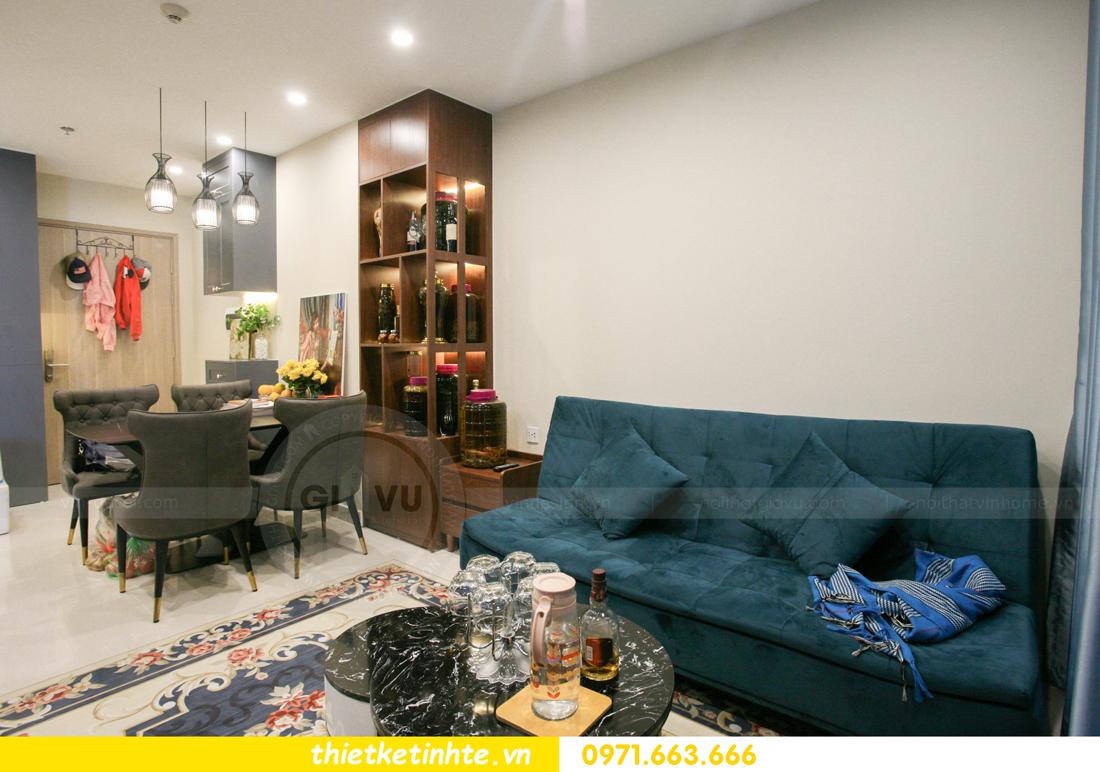 thi công nội thất căn hộ Smart City tòa S201 nhà anh Hân 7