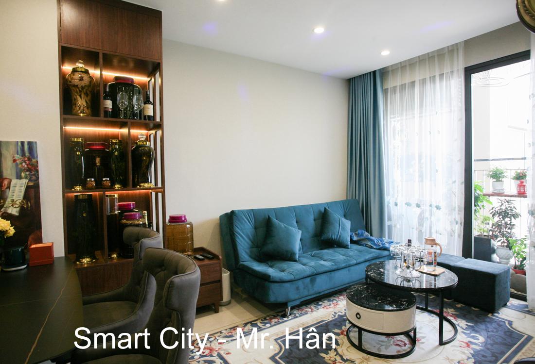 Thi công nội thất căn hộ Smart City tòa S201 nhà anh Hân