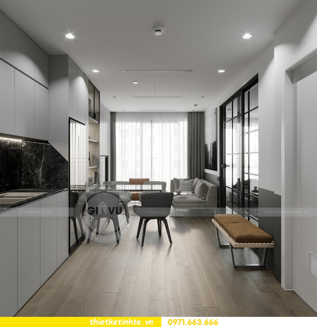 thiết kế nội thất căn hộ 1PN + 1 tại Vinhomes Smart City 2
