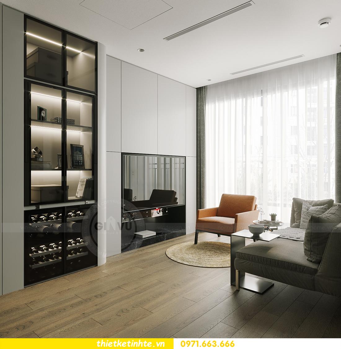 thiết kế nội thất căn hộ 1PN + 1 tại Vinhomes Smart City 3