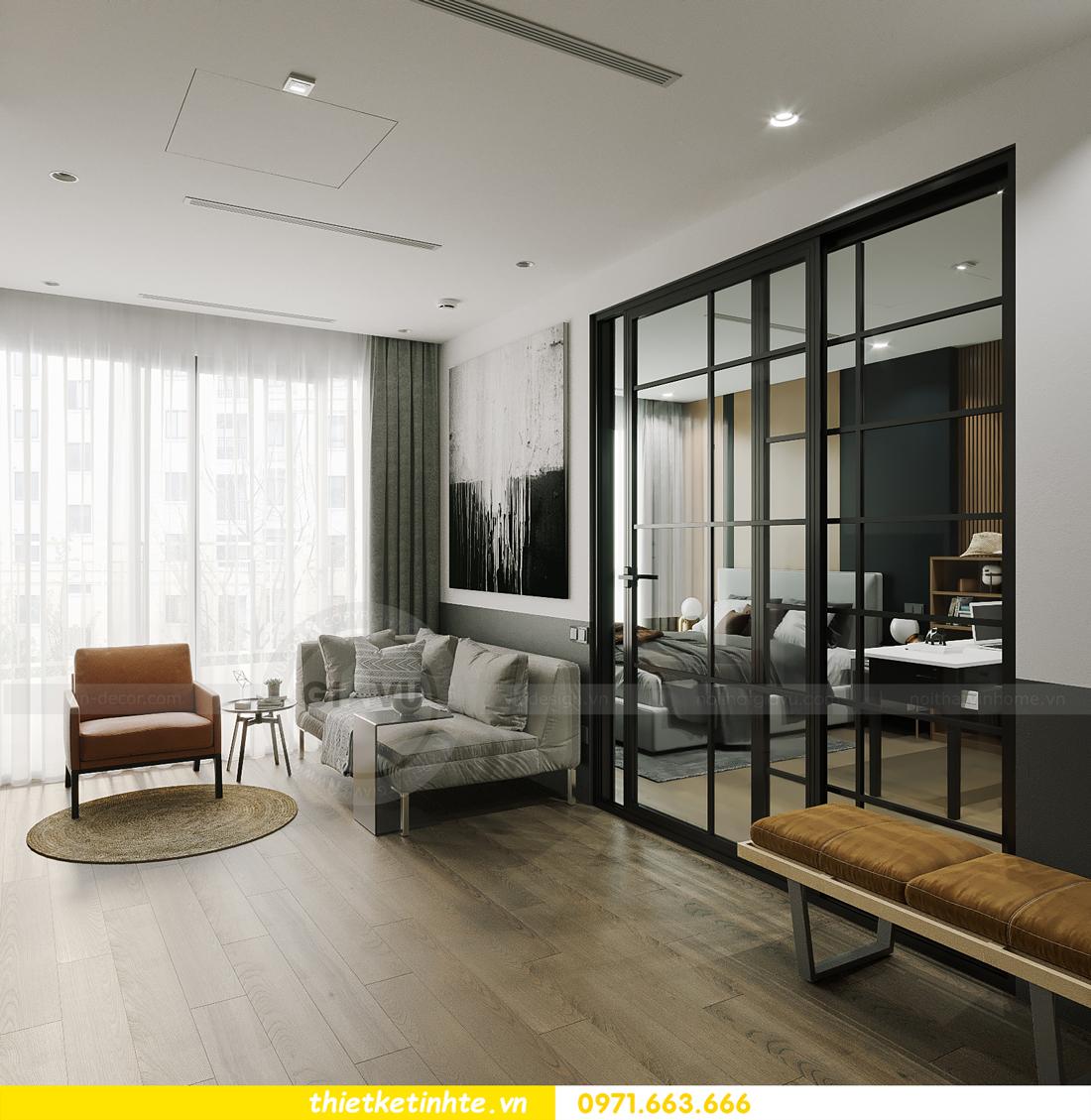 thiết kế nội thất căn hộ 1PN + 1 tại Vinhomes Smart City 5