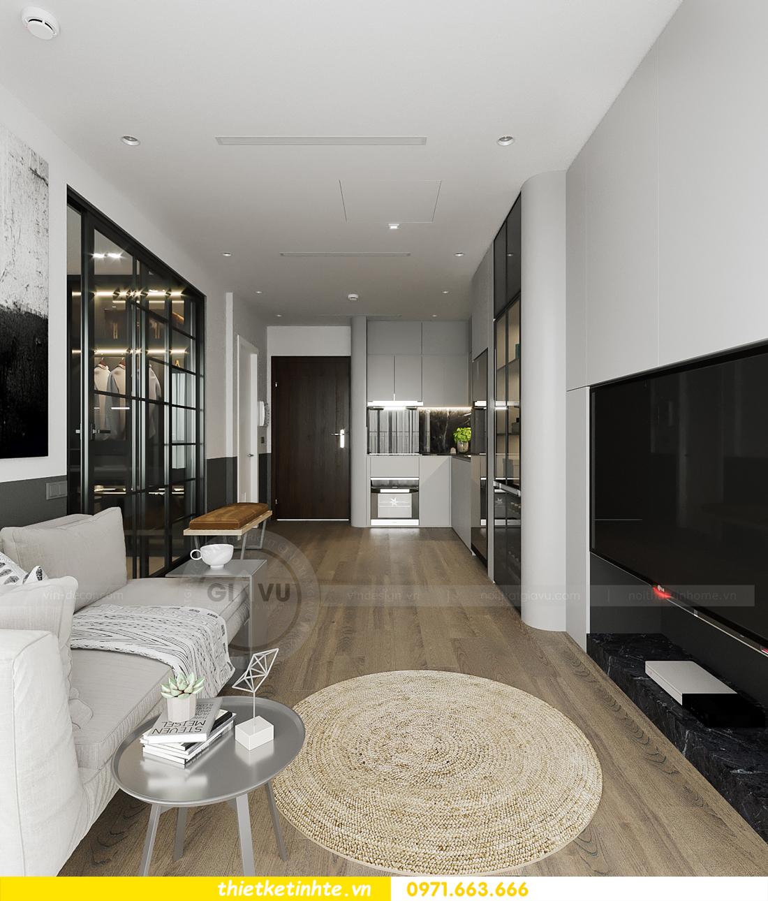 thiết kế nội thất căn hộ 1PN + 1 tại Vinhomes Smart City 6