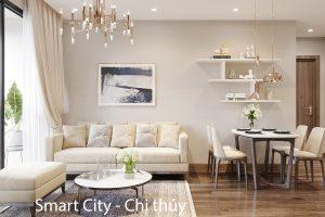 Mẫu Thiết Kế Nội Thất Smart City Căn Hộ 2 Phòng Ngủ