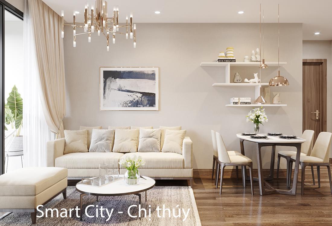 Mẫu thiết kế nội thất Smart City – căn hộ 2 phòng ngủ