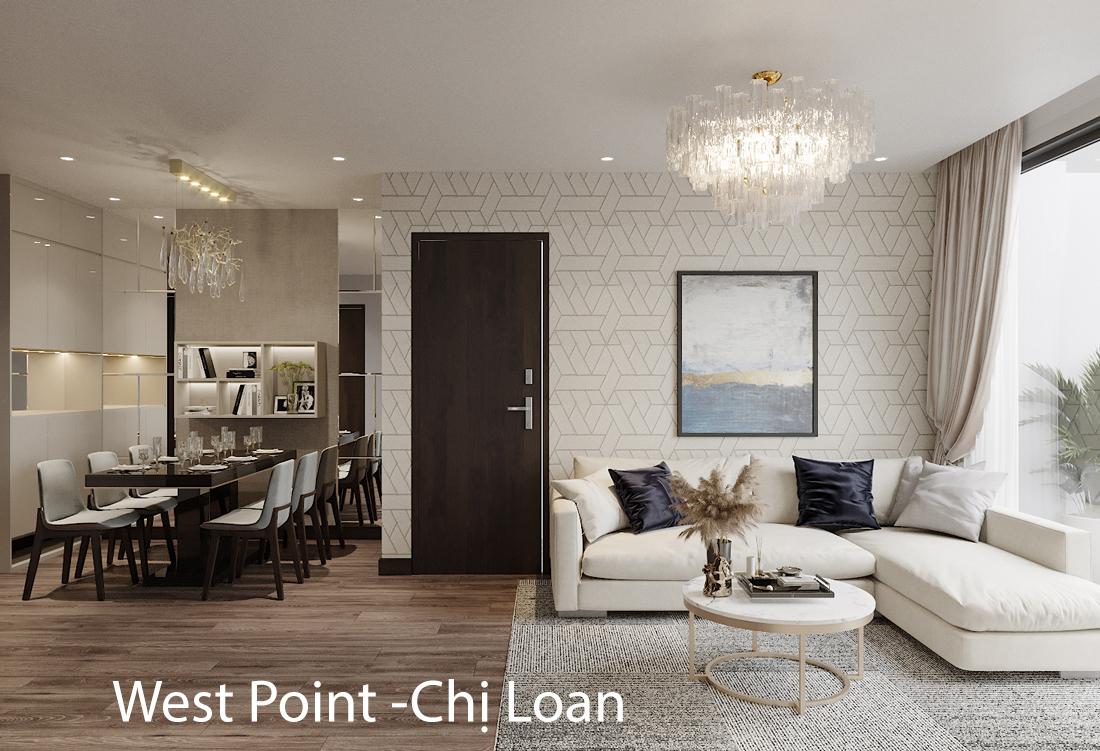 Thiết kế nội thất căn hộ Vinhomes West Point tòa W2 căn 01