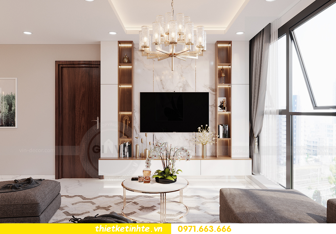 thiết kế nội thất tòa S301 chung cư Vinhomes Smart City 5