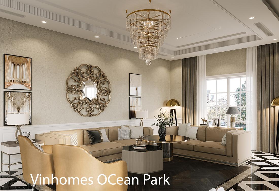 Mẫu thiết kế nội thất biệt thự OCean Park – San Hô 02.03