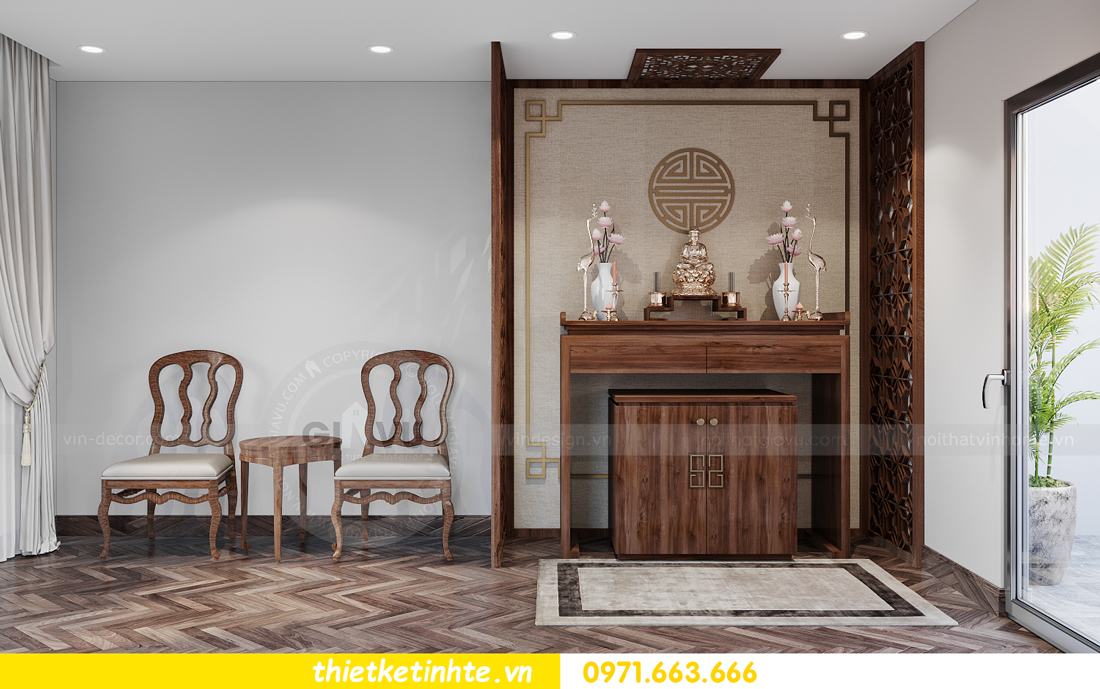 thiết kế nội thất biệt thự San Hô Vinhomes OCean Park 15