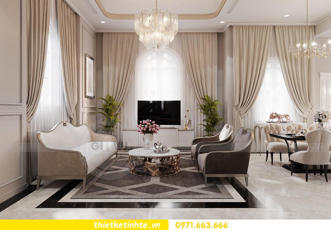Thiết kế nội thất biệt thự Ngọc Trai Vinhomes OCean Park