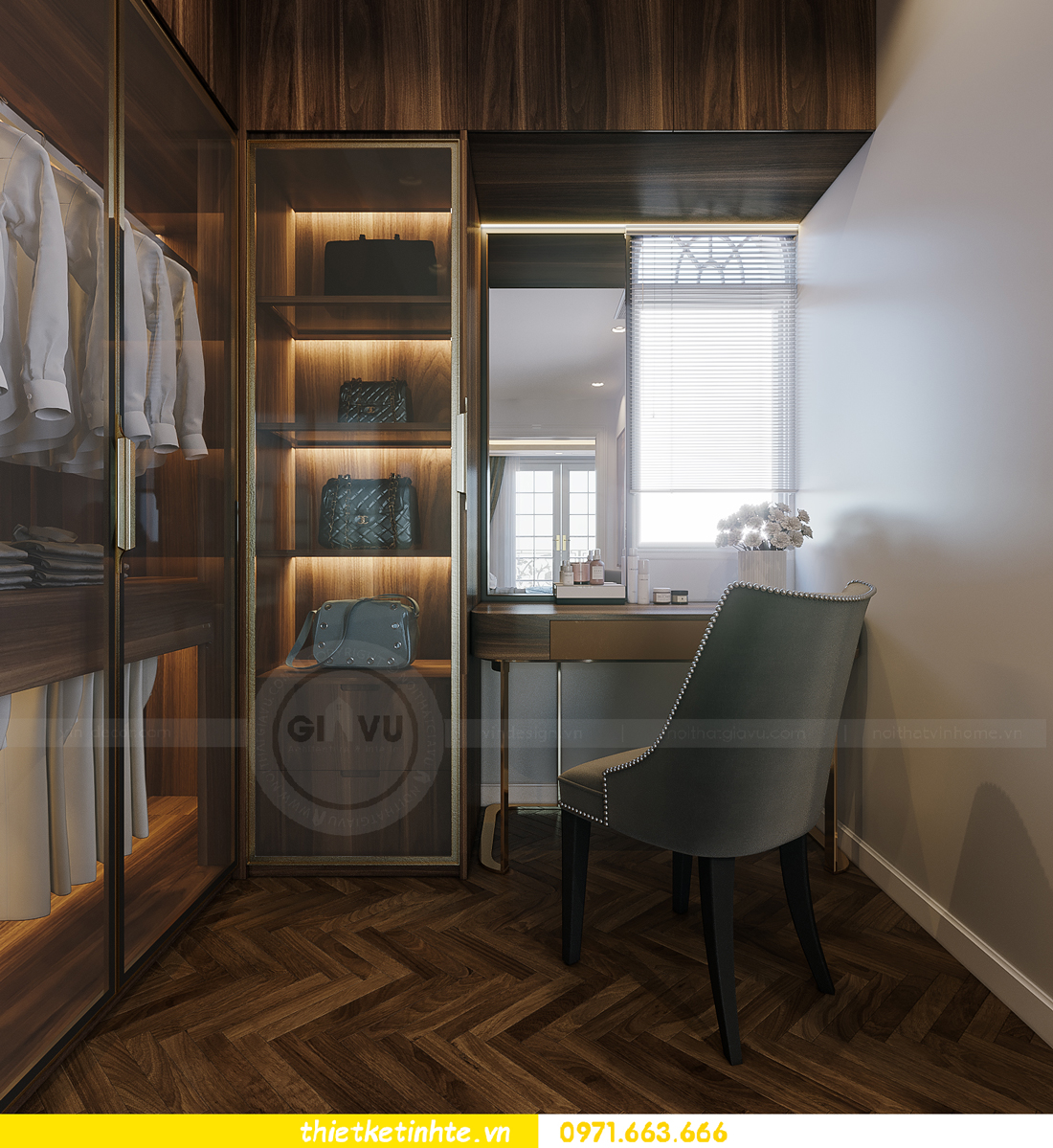 thiết kế thi công nội thất biệt thự Ngọc Trai Vinhomes Ocean Park 13
