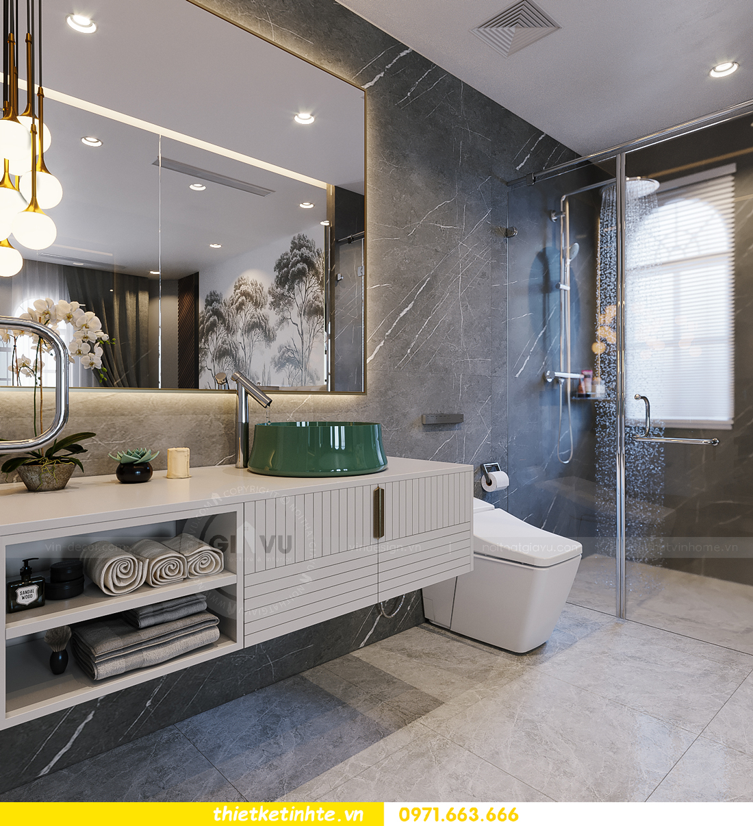 thiết kế thi công nội thất biệt thự Ngọc Trai Vinhomes Ocean Park 29