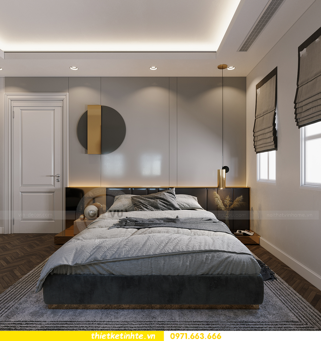 thiết kế thi công nội thất biệt thự Ngọc Trai Vinhomes Ocean Park 30