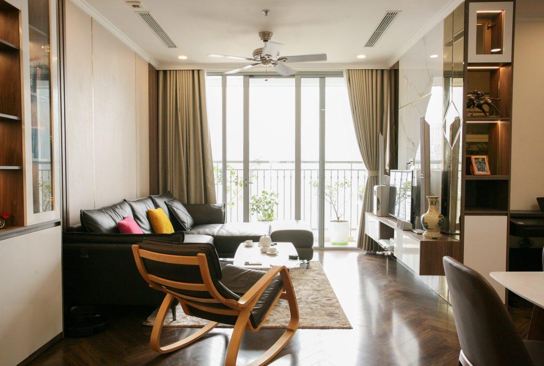 Thi công nội thất căn hộ hiện đại với chất liệu gỗ An Cường