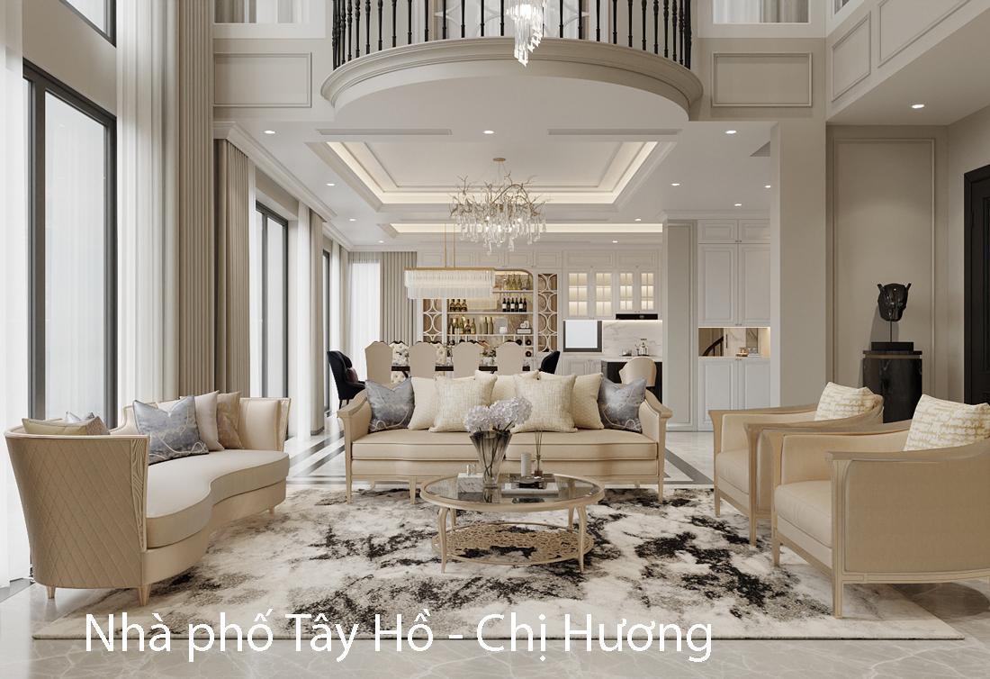 Mẫu thiết kế nội thất nhà phố đẹp, hiện đại – nhà chị Hương
