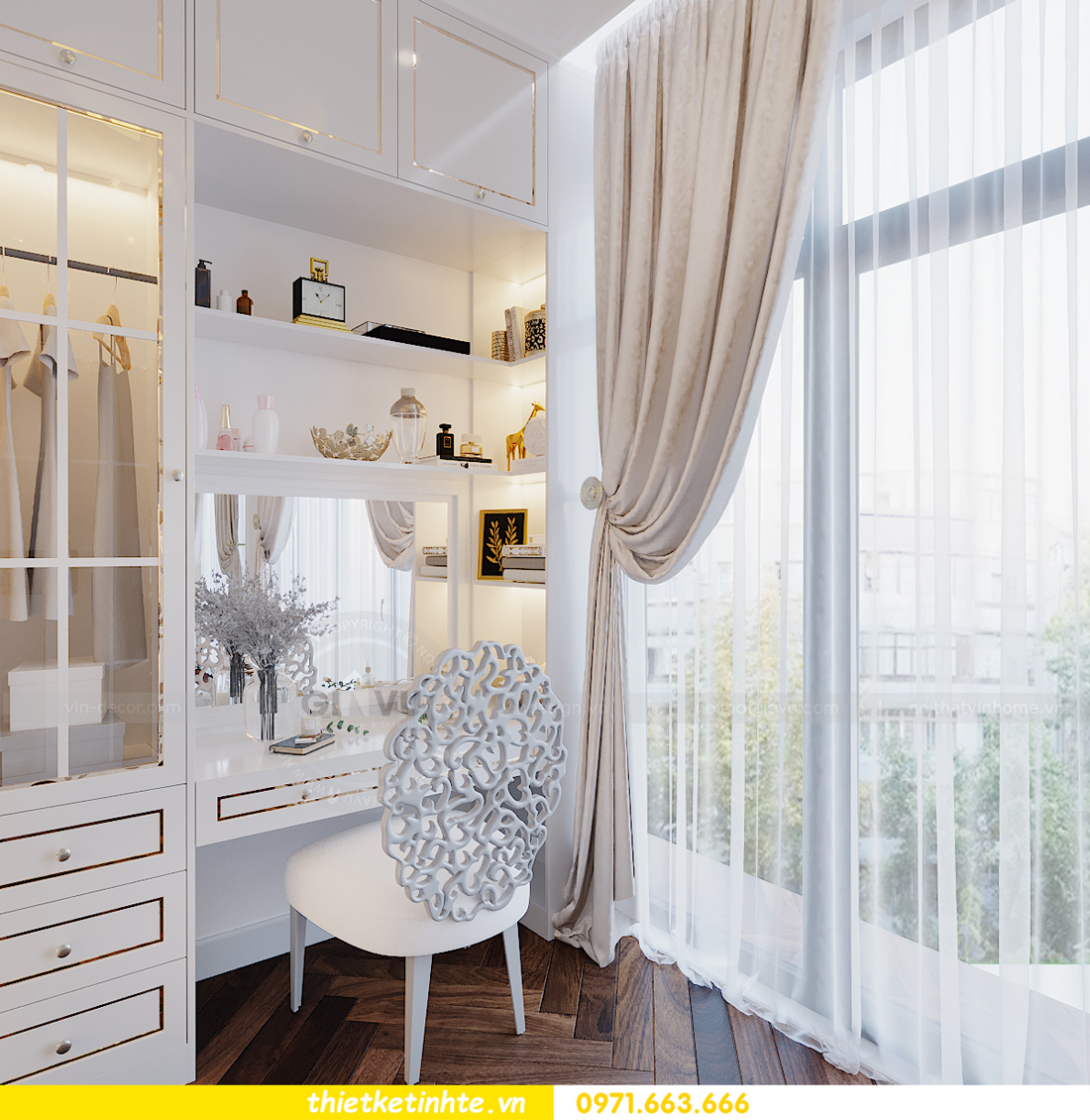 Thiết kế nội thất biệt thự Sao Biển 02-29 Ocean Park căn 90m2 14