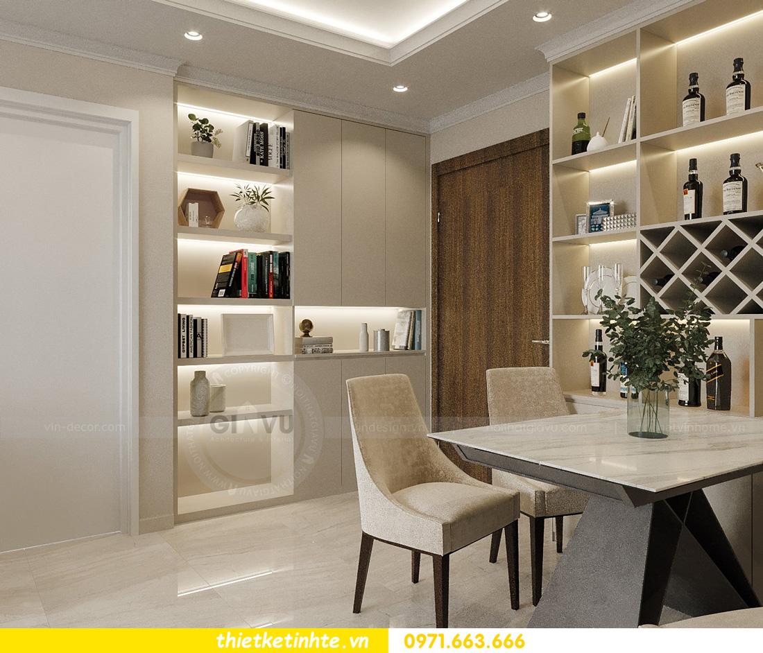 thiết kế nội thất căn hộ 2 ngủ hiện đại tại Vinhomes DCapitale 1