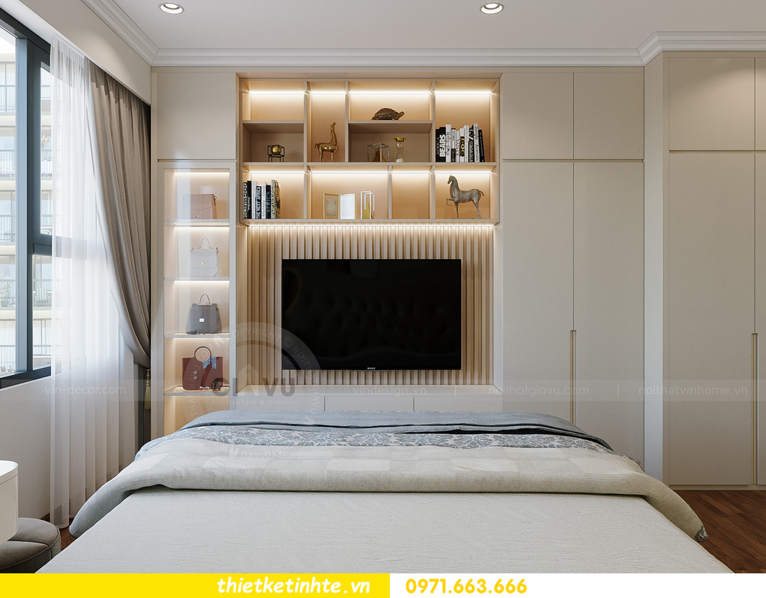 thiết kế nội thất căn hộ 2 ngủ hiện đại tại Vinhomes DCapitale 10