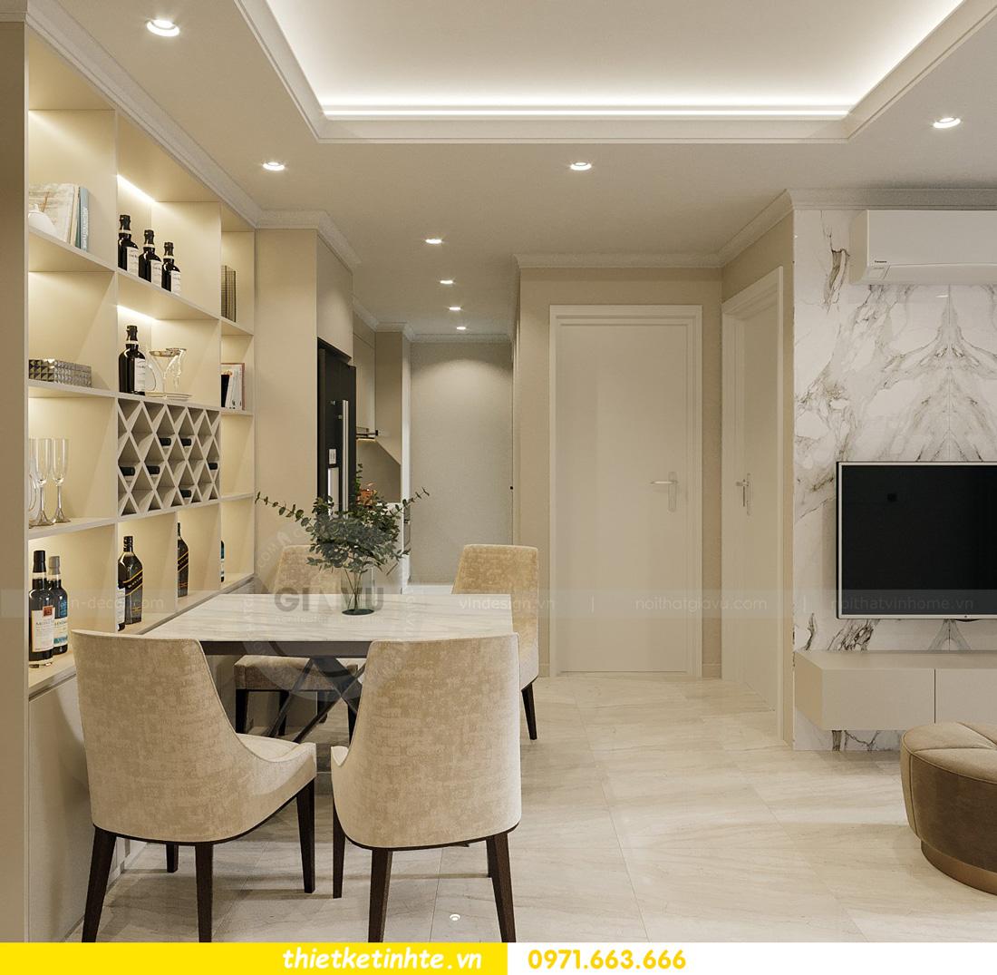 thiết kế nội thất căn hộ 2 ngủ hiện đại tại Vinhomes DCapitale 2