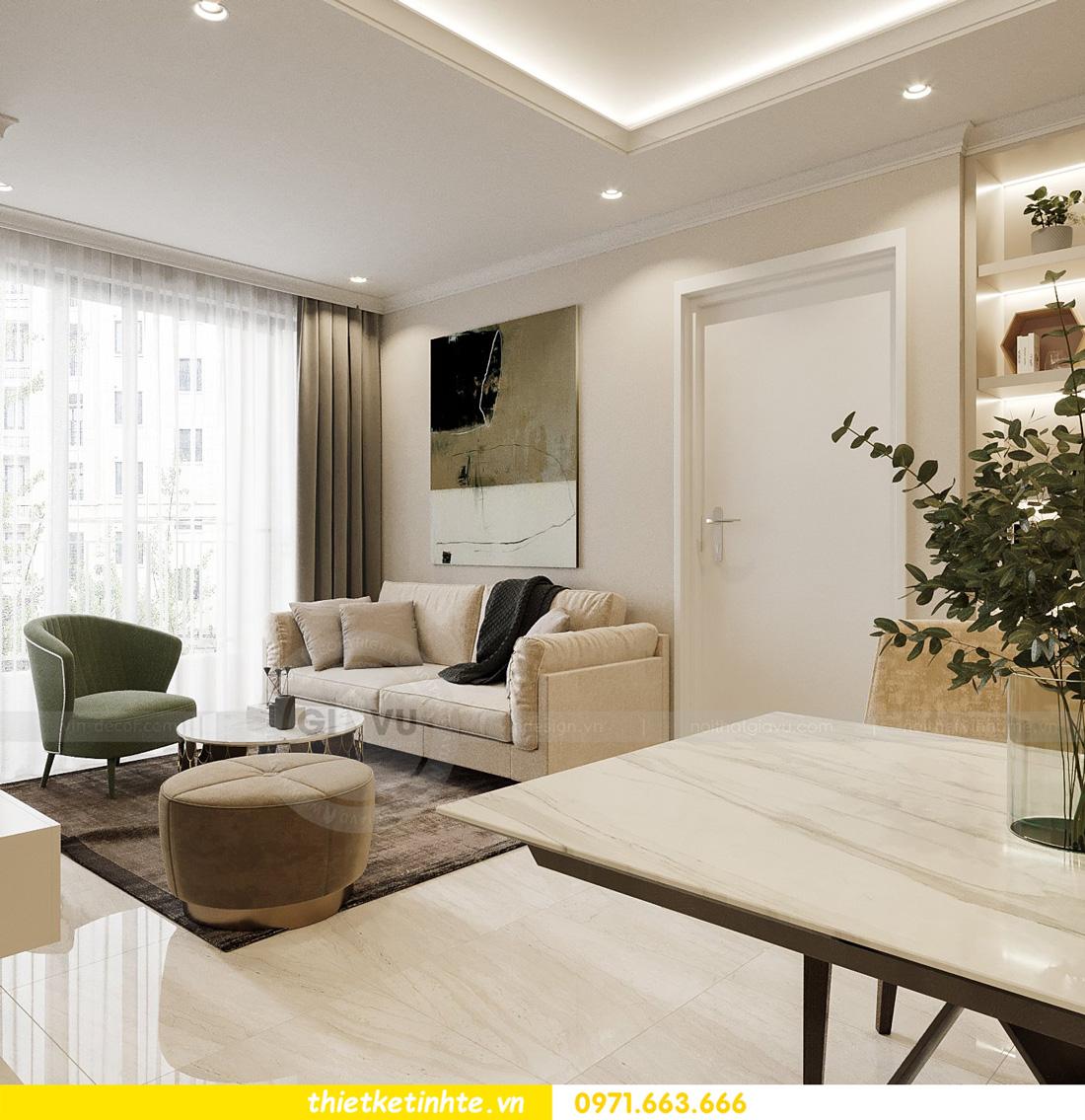thiết kế nội thất căn hộ 2 ngủ hiện đại tại Vinhomes DCapitale 4