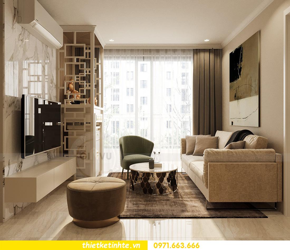 thiết kế nội thất căn hộ 2 ngủ hiện đại tại Vinhomes DCapitale 5