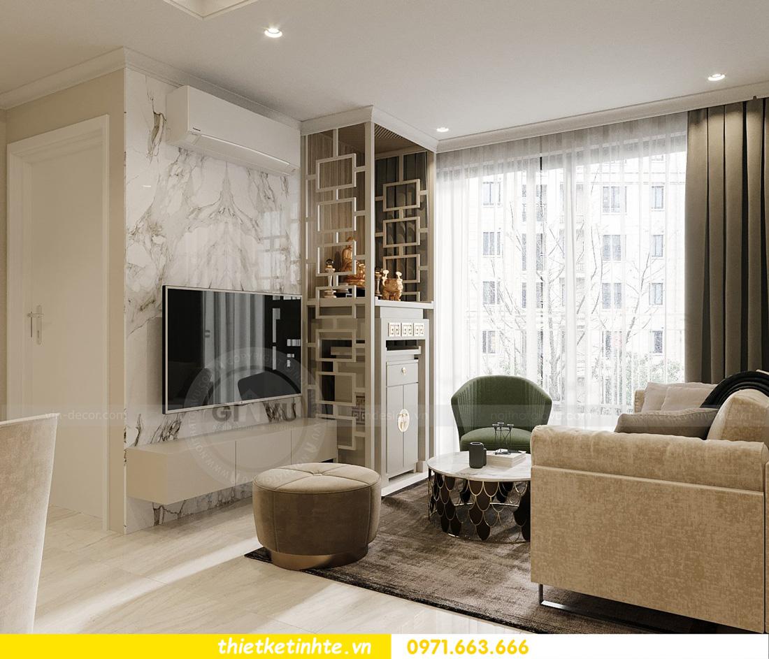 thiết kế nội thất căn hộ 2 ngủ hiện đại tại Vinhomes DCapitale 6
