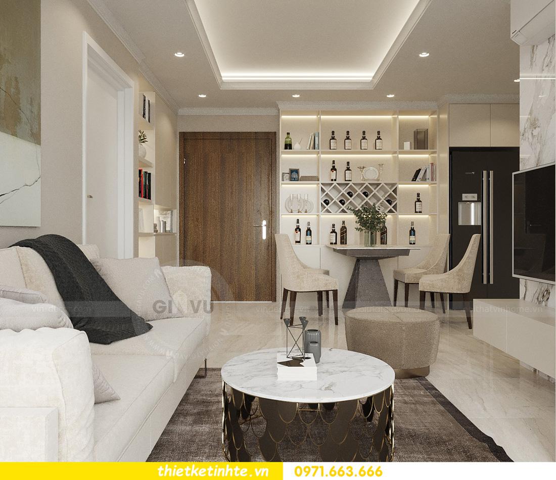 thiết kế nội thất căn hộ 2 ngủ hiện đại tại Vinhomes DCapitale 7