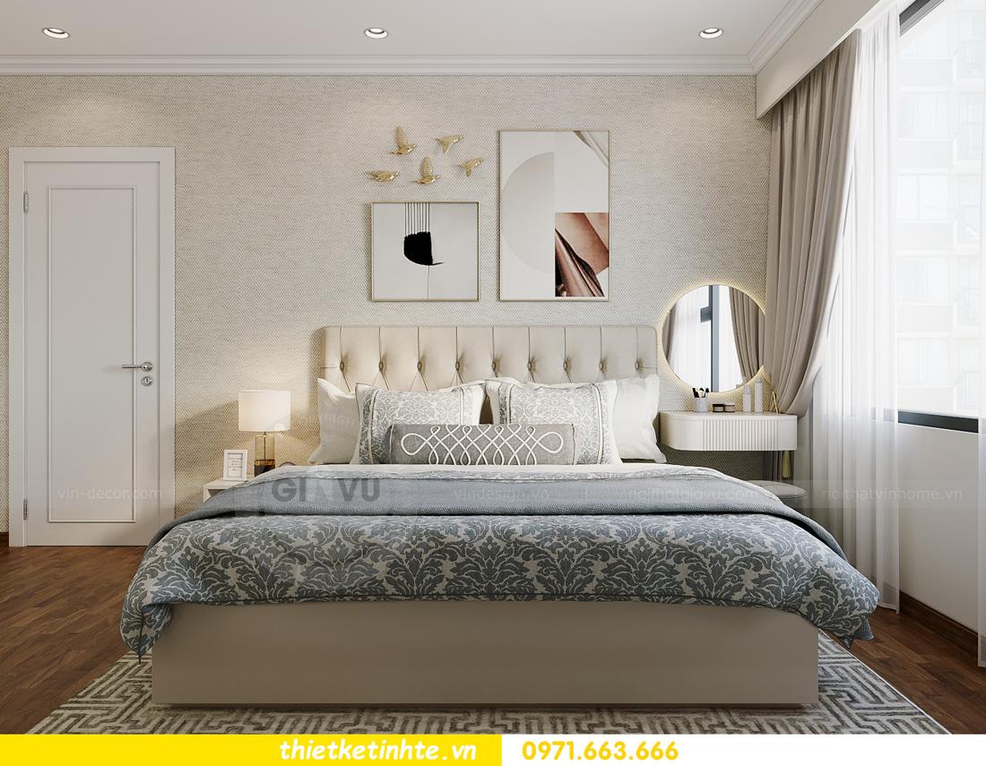 thiết kế nội thất căn hộ 2 ngủ hiện đại tại Vinhomes DCapitale 9