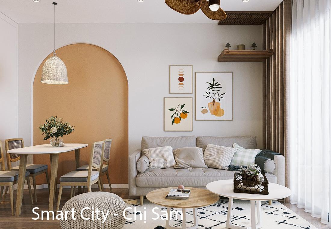 Thiết kế thi công nội thất Vinhomes Smart City tòa S303 căn 02