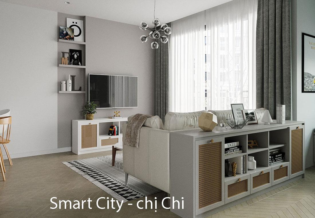 Thiết kế thi công nội thất tại Smart City tòa S102 căn hộ 17